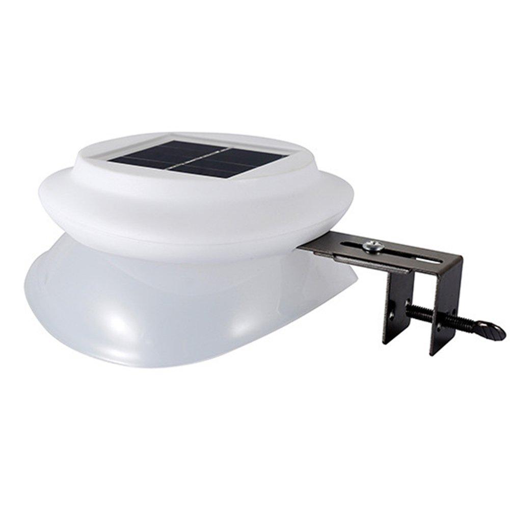 Solar Light, 9 LED Solar Optical Sensor Outdoor Waterproof Garden Security Wall Lamp Light(White shell white light)