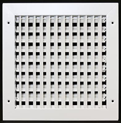 "10""w X 10""h ADJUSTABLE AIR SUPPLY DIFFUSER - HVAC Vent Duct Cover Sidewall or Cieling - Grille Register - High Airflow -"