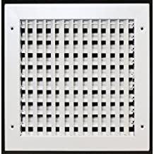"""10"""" x 10"""" ADJUSTABLE DIFFUSER - Vent Duct Cover - Grille Register - Sidewall or Cieling - High Airflow"""