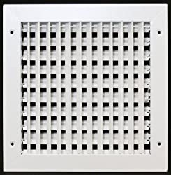 "10"" X 10"" Adjustable Diffuser - Vent Duct Cover - Grille Register - Sidewall Or Cieling - High Airflow"