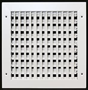 10 x 10 adjustable diffuser vent duct cover grille for How to improve airflow in vents
