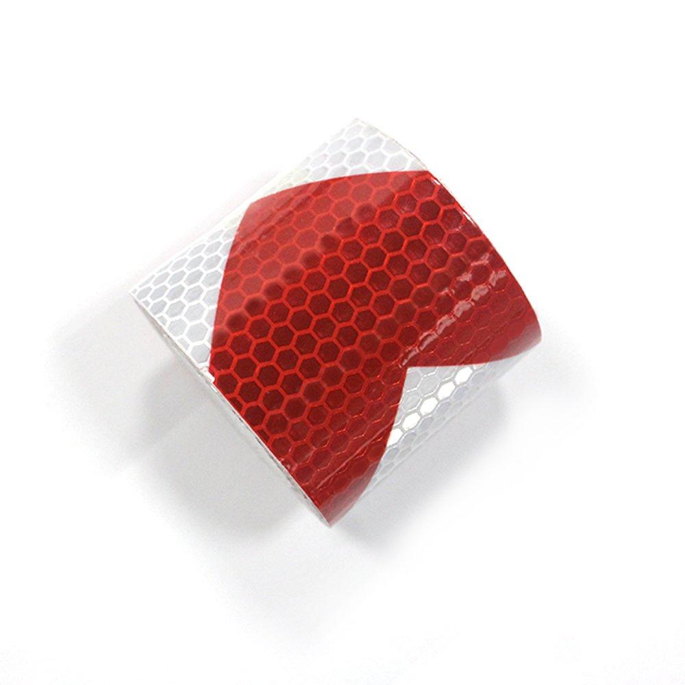 muchkey/® High Intensit/ät Grade Lime Reflektierende Tape reflectibe Warnschild Pfeil Ausrichtung Tape 5/cm x 3/m rot + wei/ß