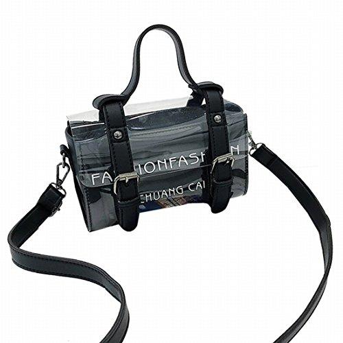 a tracolla donna per 4 colori trasparente borse trasparenti tracolla borse Borse a per Nero Tote Purses n57UwHX