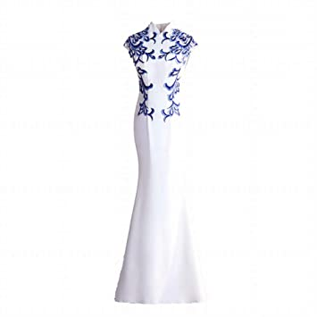 TY-ER Vestido de Noche del Banquete de Sirena Fiesta de Baile Cheongsam Vestido de
