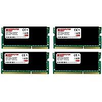 Komputerbay 32GB (4x 8GB) DDR3 PC3-12800 1600MHz SODIMM 204-Pin Laptop Memory...