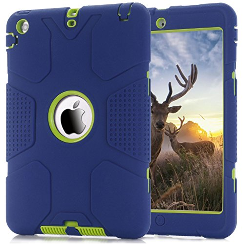 iPad Mini Case, iPad Mini 2 Case,iPad Mini 3 Case, Hocase Robot Series High Impact Resistant Shockproof Case for iPad Mini 1 / 2 / 3 - Navy Blue / Green (Robot Ipad Mini Case compare prices)