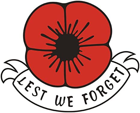 Lest We Forget Remembrance Day Sticker Poppy Flower Rembrance Day From Home