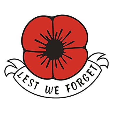 Lest we forget remembrance day sticker poppy flower decal car lest we forget remembrance day sticker poppy flower decal car window fridge mightylinksfo