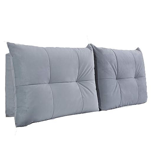 Almohadas de cama Cabecera de franela cojín grande cama de ...