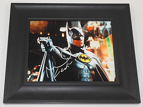 Batman Bruce Wayne Michael Keaton Hand Signed Autographed 8x10 Photo Gallery Framed Loa (Authentic Joker Costume)