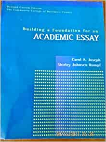 revised academic essay format —william zinsser what this handout is about this handout will motivate you to revise your drafts and revising drafts to look at the essay as a whole.
