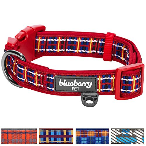 Blueberry-Pet-5-Patterns-Soft-Comfy-Classic-Scottish-Tartan-Pattern-Ultra-soft-Neoprene-Padded-Dog-Collar