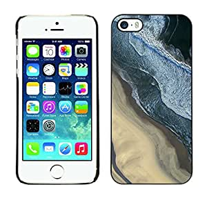 X-ray Impreso colorido protector duro espalda Funda piel de Shell para Apple iPhone 5 / iPhone 5S - Photography Sand Beach Surf Waves