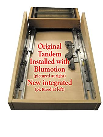 Blum Tandem Premium Undermount Slides With Integrated Soft Close Full  Extension For 18 Drawers 100