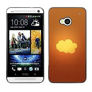 Caucho caso de Shell duro de la cubierta de accesorios de protección BY RAYDREAMMM - HTC One M7 - Rainy Nube