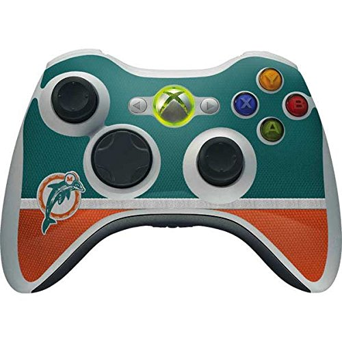 (Skinit NFL Miami Dolphins Xbox 360 Wireless Controller Skin - Miami Dolphins Vintage Design - Ultra Thin, Lightweight Vinyl Decal Protection)