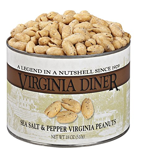 Virginia Diner Sea Salt and Pepper Virginia Peanuts, 18 Ounce ()