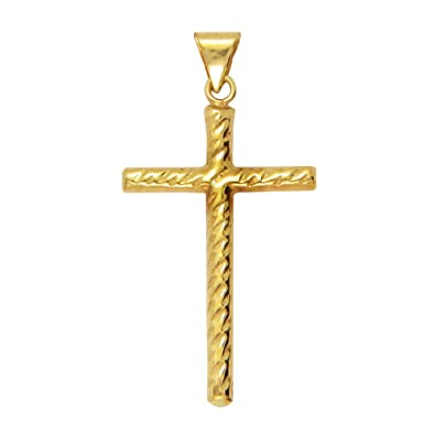 Buy lecalla 22k 916 yellow gold cross pendant online at low prices lecalla 22k 916 yellow gold cross pendant aloadofball Gallery