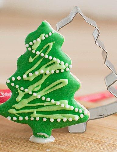ouyang Forma de pino de Navidad Moldes geschnittenen Frutas Formas Acero Inoxidable: Amazon.es: Hogar
