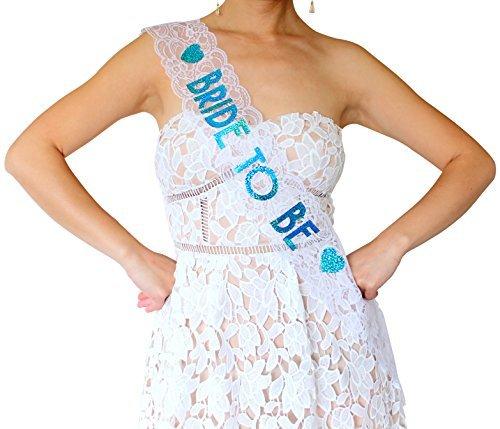 98c22a5d6bd Amazon.com  Bride to Be Lace Sash - Bachelorette Party