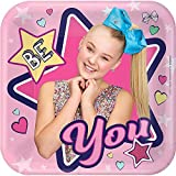 Amscan 541900 Square Plates | Jojo Siwa Collection | Birthday, Multicolor, One Size
