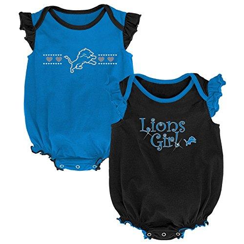 Outerstuff NFL NFL Detroit Lions Newborn & Infant Homecoming Bodysuit Combo Pack Lion Blue, 3-6 Months