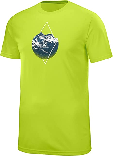 SALOMON X ALP Graphic SS tee M - Camiseta, Hombre, Verde(Acid Lime): Amazon.es: Deportes y aire libre