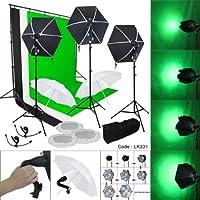LINCO Studio Lighting Photo Light Softbox Backdrop Stand Muslin Kit