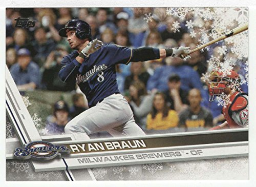 Ryan Braun Baseball Card 2017 Topps Walmart Holiday Snowflake Hmw 45 Mt