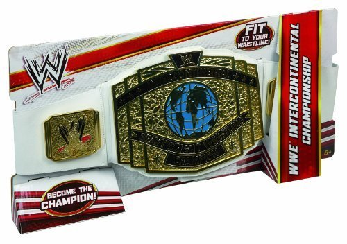 Mattel WWE Intercontinental Championship Title Belt White Strap by Mattel