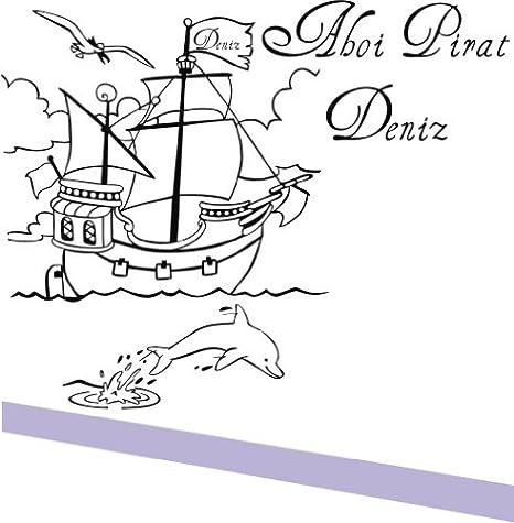 Barco Pirata con Delfín, Ahoi pirata... (deseos nombres) gratis ...