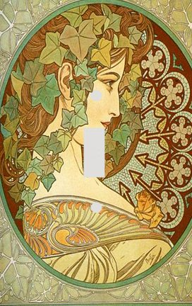 Fine Art Mucha Ivy Switchplate - Switch Plate Cover