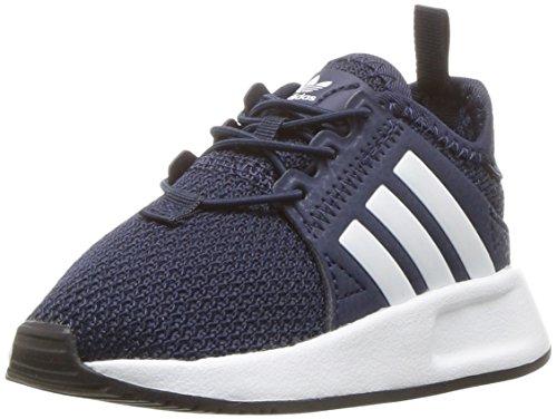 adidas Originals Boys' X_PLR EL I Running Shoe, Collegiate Navy White, 5 M US Toddler