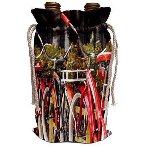 3dRose Danita Delimont - Bicycles - Australia, Victoria, Melbourne, South Wharf, bicycles outside. - Wine Bag ()