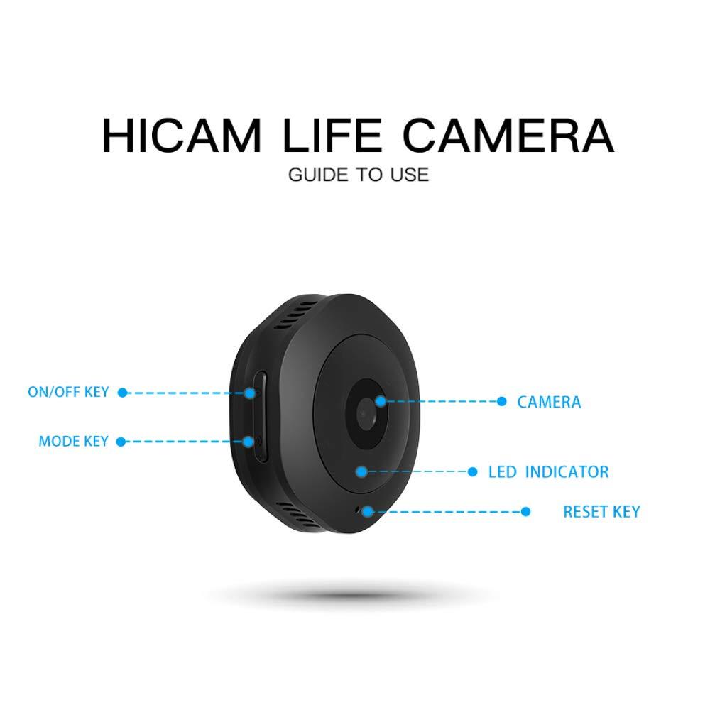 HUAWO V8 WiFi Mini Ocultos espía Wireless cámara IP 1080p HD cámara de vigilancia de Seguridad con visión Nocturna, detección de Movimiento para ...