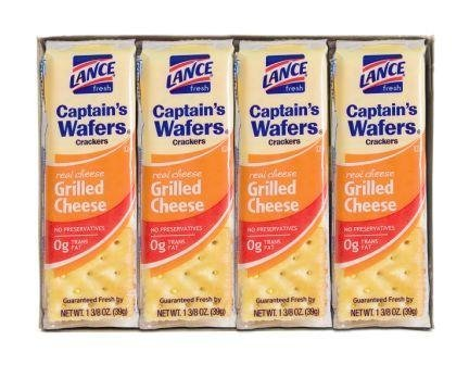 Lance Captain's Wafers Crackers Grilled Cheese - One Box of 8 Individual Packs