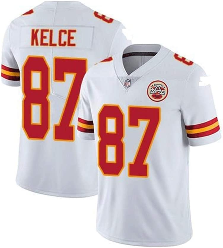 #87 Kelce Kansas City Chiefs Pro Rugby Jersey Tech Breathable Cotton Jersey T-Shirt Rugby Suit Large Boys