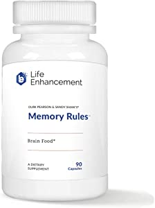 Life Enhancement Memory Rules Supplement |Brain Food for Mental Energy and Clarity | with 500 mg Phenylalanine, Choline, and More | 30 Servings