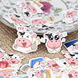 Sticker 40 Pcs/lot Meng Cow Expression Decal for Phone Car Case Waterproof Laptop Album Diary Backpack Kids Toy