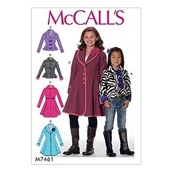 Unbekannt McCall \'s Mädchen Einfach Schnittmuster 7461 Peter Pan ...