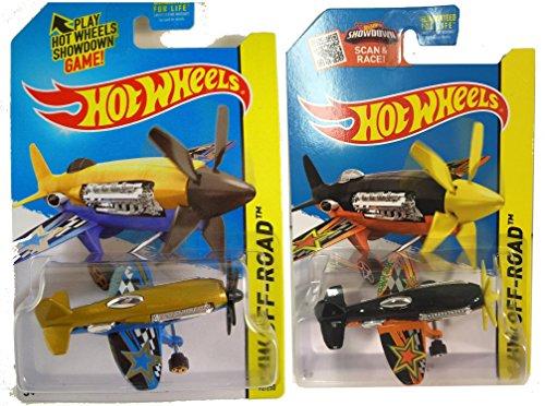 Hot Wheels 2015 Mad Propz Die-Cast Planes #92 and variant from Mainline 2-plane (Diecast P-40 Warhawk Plane)
