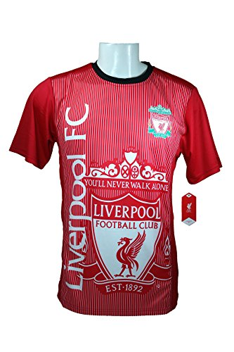 Liverpool F.C. Soccer Official Adult Soccer Training Performance Poly Jersey -J009 Large by Liverpool F.C.