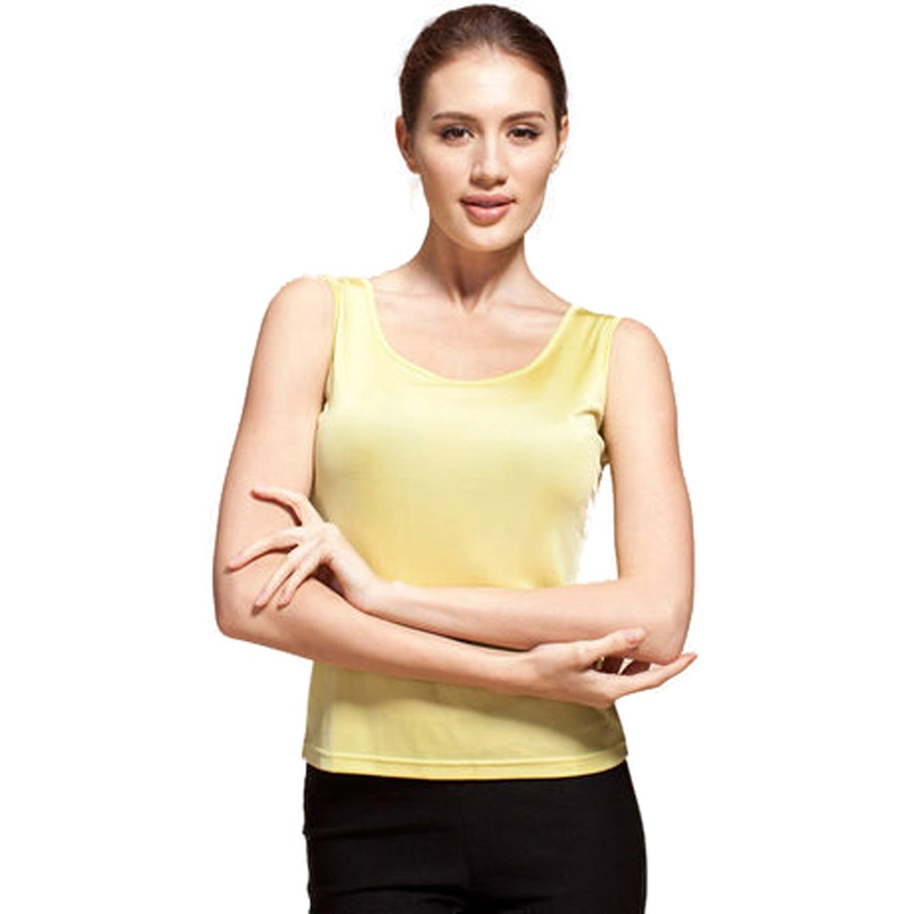7b86dd07c3bf2 Forever Angel Women s 100% Silk Knitted Casual Tank  1541586733 ...