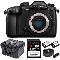 Panasonic GH5 Lumix 4K Mirrorless , 20.3 MP, Wi-Fi + BT,3.2 LCD 128GB Bundle