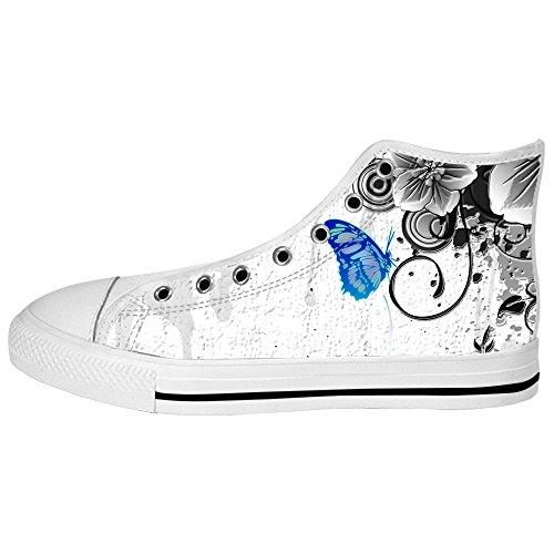 2018 Nueva Venta Online Custom Colore Flying Butterfly Mens Canvas shoes I lacci delle scarpe in Alto sopra le scarpe da ginnastica di scarpe scarpe di Tela. Salida De Línea Nueva Venta Online Aclaramiento Mejor Lugar Dh8TY9Y