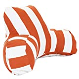 Majestic Home Goods Vertical Stripe Reading Pillow, Burnt Orange