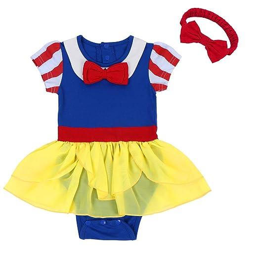 c0ddd1107 Amazon.com  FYMNSI Newborn Baby Girls Snow White Princess Halloween ...