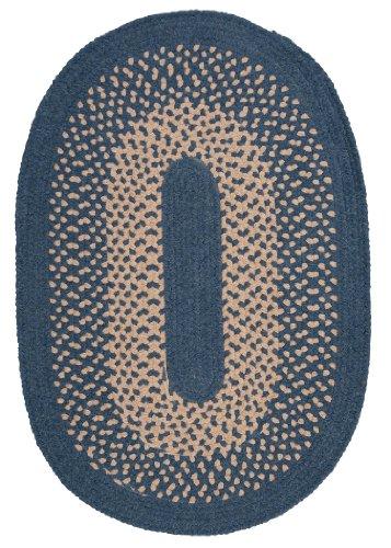 Jackson Oval Area Rug, 2 by 12-Feet, Federal Blue