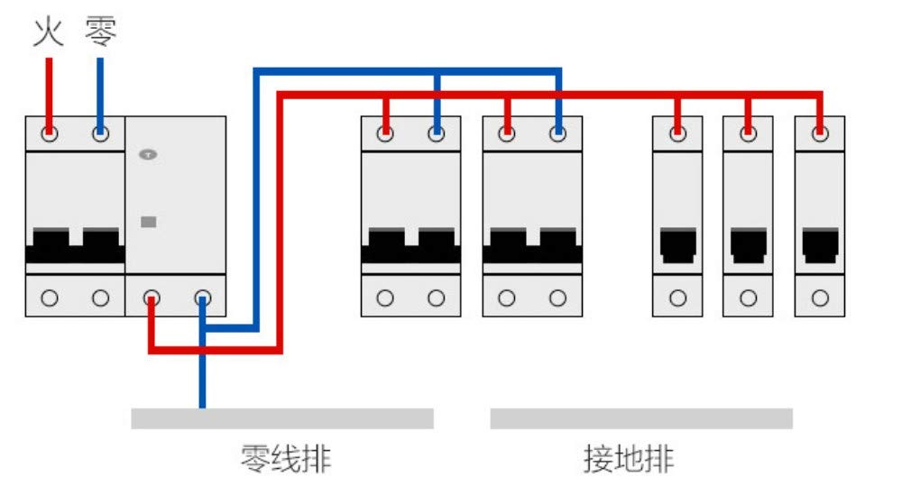 xiadsk 小型断路器 家用保护器 空气开关 短路过载保护器2P,63A