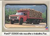 1987 Ford F22000 6x4 Diesel Logging Truck Brochure Brazil